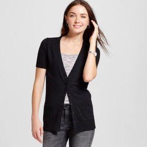 Merona black short sleeve cardigan
